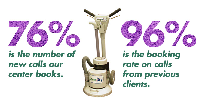 76% is the number of new calls our center books. 96% is the booking rate on calls from previous clients.