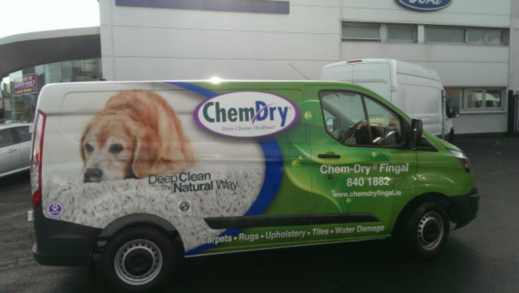 picture of chem-dry carpet cleaning van